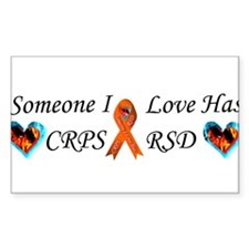 Someone I Love Has CRPS RSD Ribbon Fire & Decal