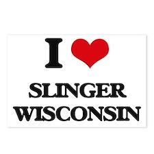 I love Slinger Wisconsin Postcards (Package of 8)