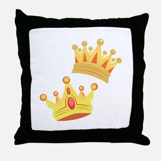 Royal Crowns Throw Pillow