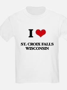 I love St. Croix Falls Wisconsin T-Shirt