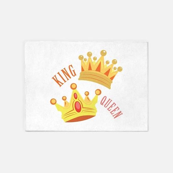 King Queen 5'x7'Area Rug