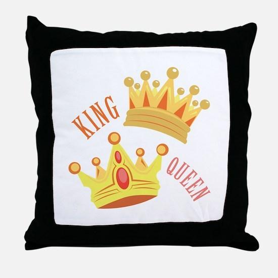King Queen Throw Pillow