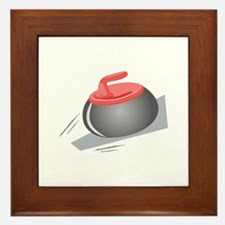 Curling Rock Framed Tile