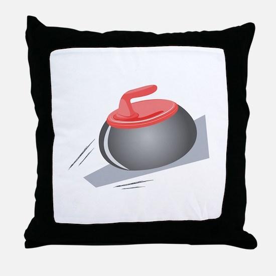 Curling Rock Throw Pillow