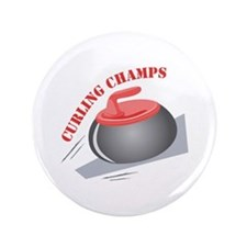 """Curling Champs 3.5"""" Button"""