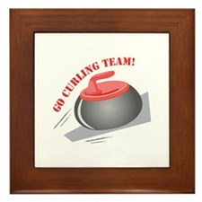 Go Curling Team Framed Tile