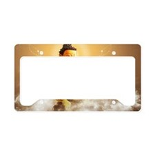 Buddha with clouds and stars License Plate Holder