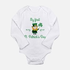 My First St. Patrick's Day Long Sleeve Infant Body