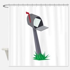 Leaning Mailbox Shower Curtain