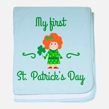 My First St. Patrick's Day baby blanket