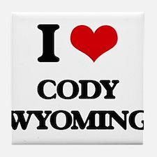 I love Cody Wyoming Tile Coaster