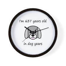 91 dog years 2 - 2 Wall Clock