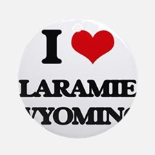 I love Laramie Wyoming Ornament (Round)