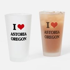 I love Astoria Oregon Drinking Glass