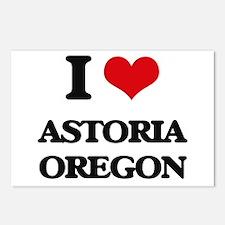 I love Astoria Oregon Postcards (Package of 8)