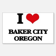 I love Baker City Oregon Decal