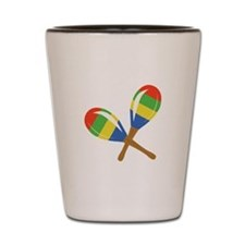 Colorful Maracas Shot Glass