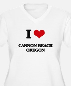 I love Cannon Beach Oregon Plus Size T-Shirt