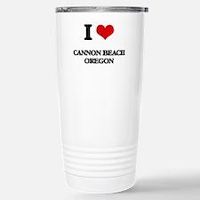 I love Cannon Beach Ore Travel Mug