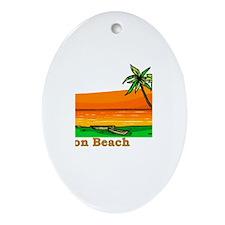 Boynton Beach, Florida Oval Ornament