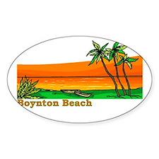 Boynton Beach, Florida Oval Decal