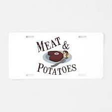Meat & Potatoes Aluminum License Plate