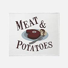 Meat & Potatoes Throw Blanket