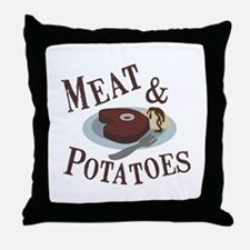 Meat & Potatoes Throw Pillow