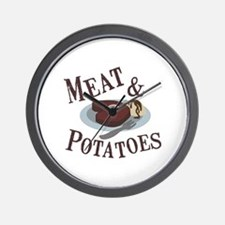 Meat & Potatoes Wall Clock