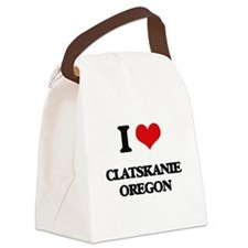 I love Clatskanie Oregon Canvas Lunch Bag