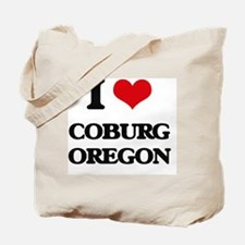 I love Coburg Oregon Tote Bag
