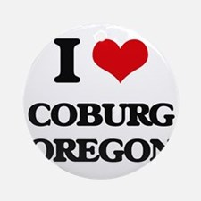 I love Coburg Oregon Ornament (Round)