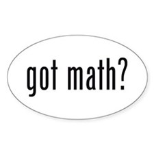 got math? Oval Stickers