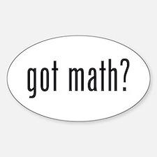 got math? Oval Stickers