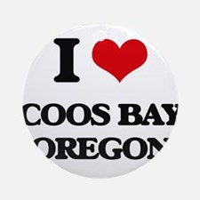 I love Coos Bay Oregon Ornament (Round)