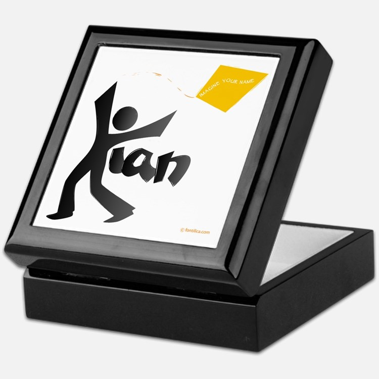 Kian Black and Orange Design Keepsake Box
