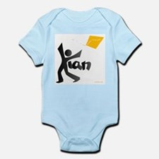 Kian Black and Orange Design Infant Bodysuit