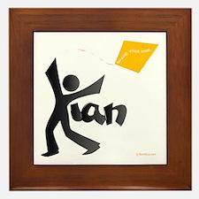 Kian Black and Orange Design Framed Tile