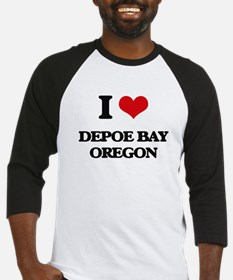 I love Depoe Bay Oregon Baseball Jersey