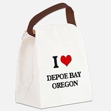 I love Depoe Bay Oregon Canvas Lunch Bag