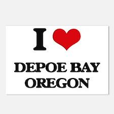 I love Depoe Bay Oregon Postcards (Package of 8)