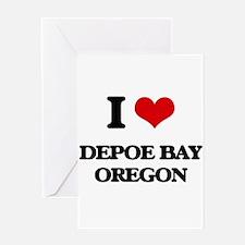 I love Depoe Bay Oregon Greeting Cards