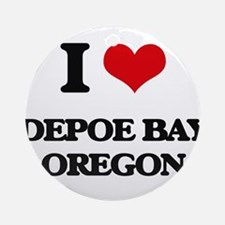 I love Depoe Bay Oregon Ornament (Round)