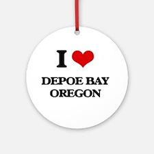 I love Depoe Bay Oregon Ornament (Round)