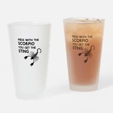 Scorpio Stings Drinking Glass