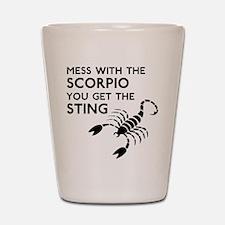 Scorpio Stings Shot Glass