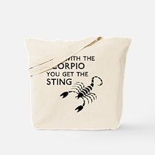 Scorpio Stings Tote Bag