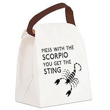 Scorpio Stings Canvas Lunch Bag