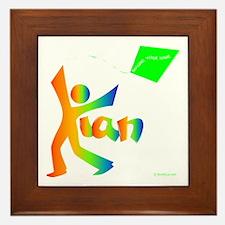 Kian Rainbow Design Framed Tile