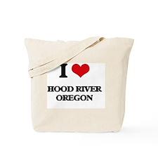 I love Hood River Oregon Tote Bag